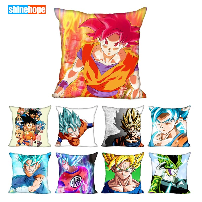 Custom Decorative Pillowcase Dragon Ball Z Square Zippered Pillow Cover 33x33,40x40,45x45cm(One Side)Pillow Case