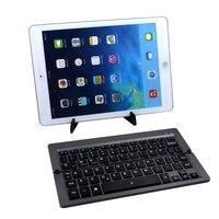 Portable Folding Keyboard Bluetooth Wireless 70 keys Keyboard Thin Magnetic Keyboard for IOS/Android/Windows System