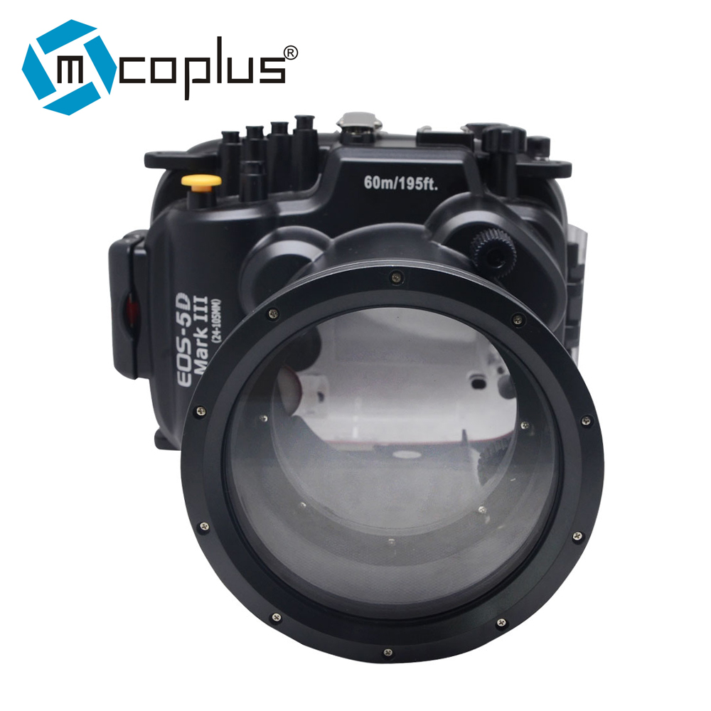 Mcoplus 60m / 190ft Waterproof Underwater Camera Housing Diving Case Bag for Canon Camera 5D Mark III 5D3 mcoplus 40m 130ft camera underwater housing waterproof shell case for nikon j5 10mm lens