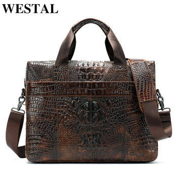 845b735d0087 WESTAL сумка-мессенджер мужская сумка через плечо из натуральной кожи  повседневный мужской портфель для ноутбука мужские деловые сумки с диза.