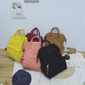 Image 2 - 2019 Kadife Sırt Çantaları Kadın Genç Kızlar Için Okul Çantaları Mochila Büyük Kapasiteli Rahat seyahat sırt çantaları Kadın Sırt Çantası