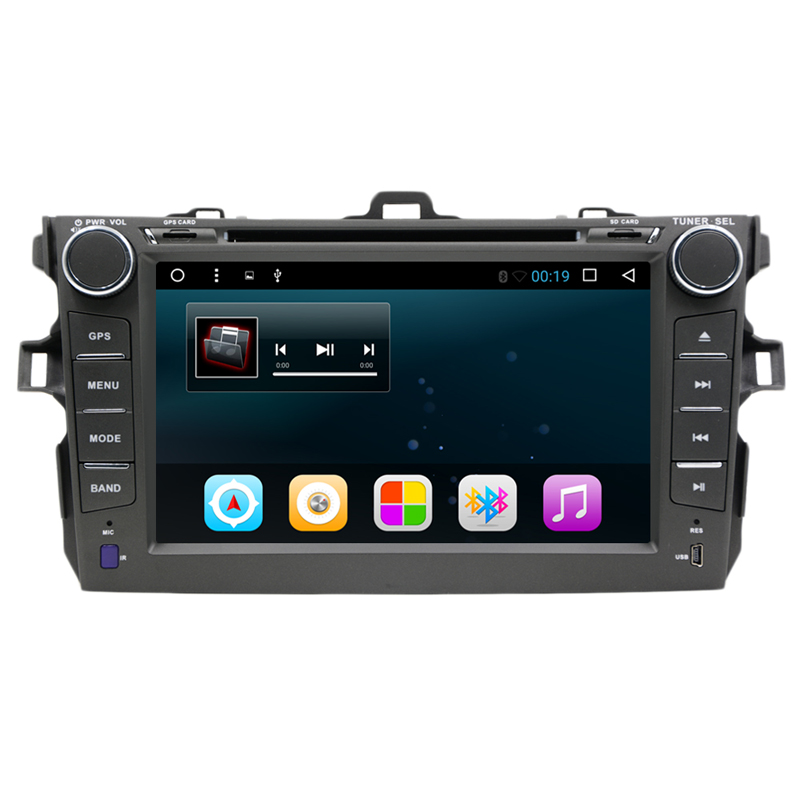 8 Android 7.1 Car DVD Player GPS Navigation For Toyota Corolla 2006 2007 2008 2009 2010 2011 car raido stereo with SWC BT wifi
