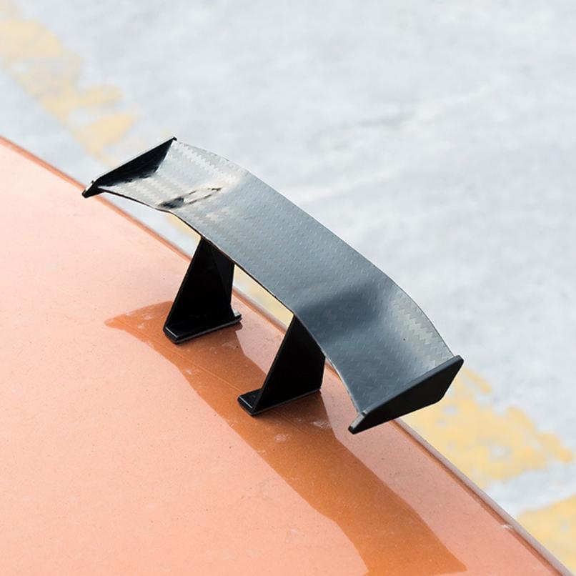 2019 6.7 インチカーボン安いスポイラーユニバーサル車尾翼ミニ自動繊維装飾 ABS/プラスチック材料炭素繊維パターン