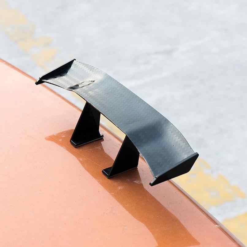 2019 6.7 インチカーボン安いスポイラーユニバーサル車尾翼ミニ自動繊維装飾abs/プラスチック材料炭素繊維パターン