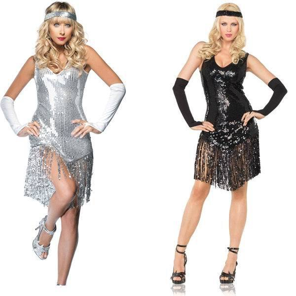 Girl Gatsby Sequined Halloween Costume Sexy Flapper Cosplay Costumes for Adults  sc 1 st  AliExpress.com : halloween costumes gatsby  - Germanpascual.Com