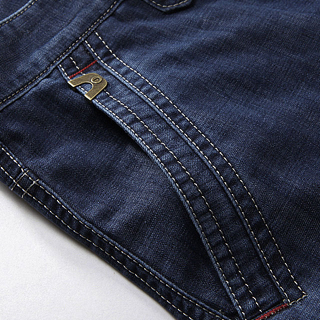 Summer 30~42 Military Denim Jeans Shorts Clothing Blue Jeans Elastic Men's shorts Cargo Cotton Men's Casual Jeans Pockets