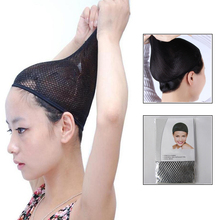 40pcs/lot Wig Cap Adjustable Snood Nylon Hairnet Lace Mesh Wig for Women Girls Ladies In Hairnets Fixed Long Hair недорого