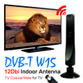 Venda de Hot + Antena de TV Digital Freeview 12dBi 3 M 10Ft Cabo de Antena Para DVB-T TV HDTV Interior