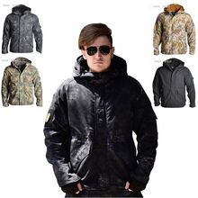 Tactical Hunting clothes Softshell Outdoor Tactical military Jacket Suit Men Hooded Hiking Camping Waterproof Combat Jacket Coat men s tactical army outdoor coat waterproof soft shell combat jacket hunting jacket