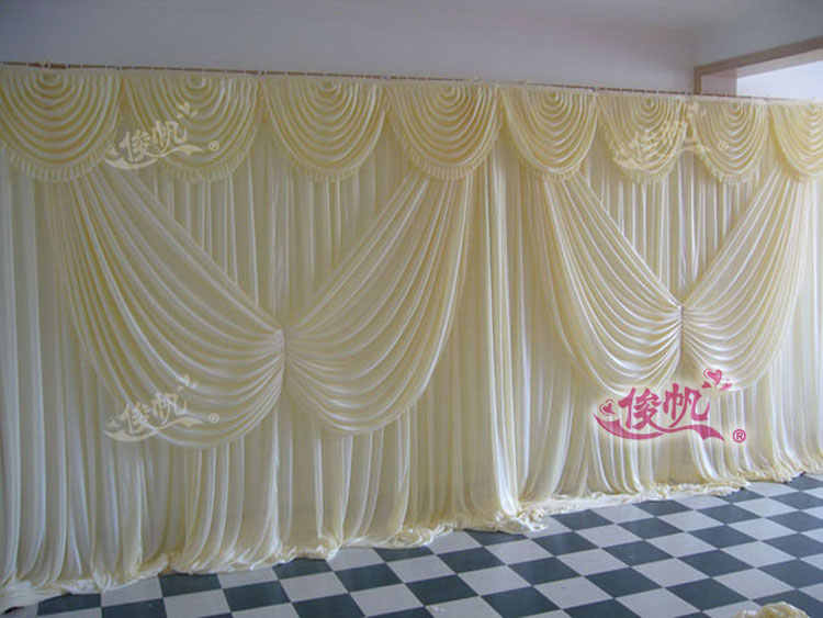 3m 6m Cream Color Wedding Stage Decoration Wedding Backdrop With