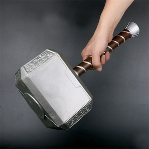 1:1 Thor Stormbreaker Thunder Hammer Figure Weapons Model Thor's Hammer Cosplay Movie Role Playing Kids Safety Toy PU