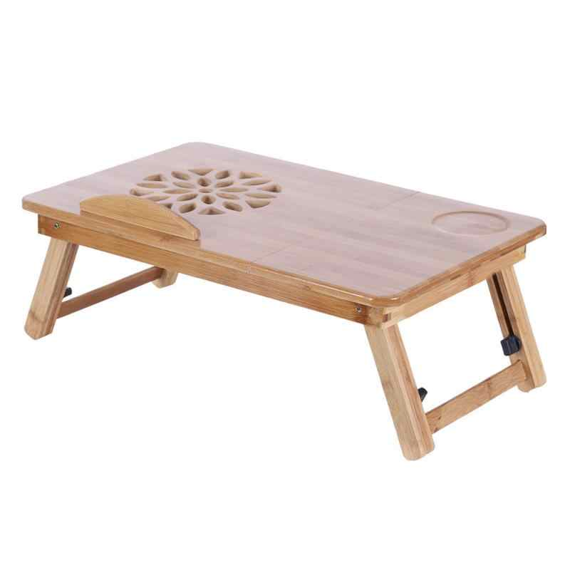 Portable Folding Bamboo Laptop Table Sofa Bed Office Laptop Stand Tray Desk Bed Table For Computer Notebook Books