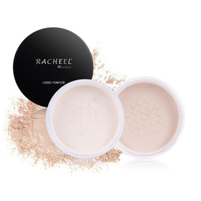 New 2 Colors Makeup Transparent Finishing Powder Smooth Loose Powder Waterproof Cosmetic For Face Finish Setting With Puff