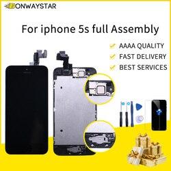 Dla iPhone SE A1723 A1662 A1724 pełny ekran Lcd wymiana LCD przednia kamera głośnik przycisk Home narzędzia z hartowanego szkło