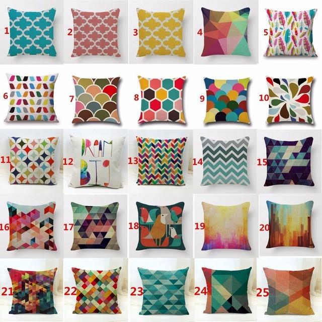 45x45 cm 3D onda geometrica lanterna cuscino cuscini decorativi per il sofà home