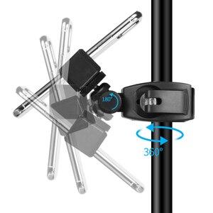 Image 3 - 新しいデスクトップマウント携帯電話用スタンド三脚 16 センチメートル LED リングフラッシュランプライトブロガー