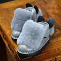 2016 otoño e invierno nuevas niñas algodón de los niños zapatos de los niños zapatos de piel de conejo