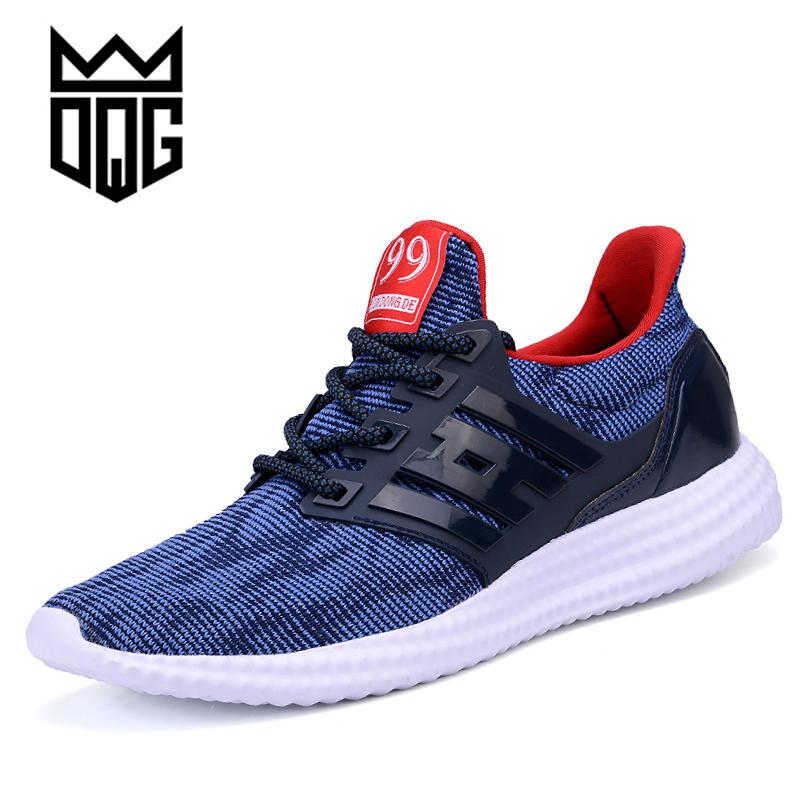 DQG Brand Men Running Shoes Athletic Sport Shoes For Men Cheap Running Shoes Flyknit Racer ...