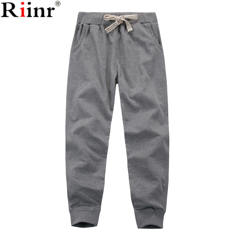 Riinr 2017 Fashiong New Arrival Mens Sweatpants High Quality Bodybuilding Joggers Solid Color Elastic Waist Loose Sweat Pants