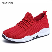 ARSMUNDI 2018 Spring and summer Designer Wedges Red Black Platform Sneakers Women Shoes Casual Air Mesh Female Woman M182