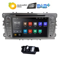 2Din Android 8.1 Car DVD Player Radio for Ford Mondeo Focus S Max C MAX Galaxy Kuga Transit Connect Quad Core Bluetooth DAB OBD2