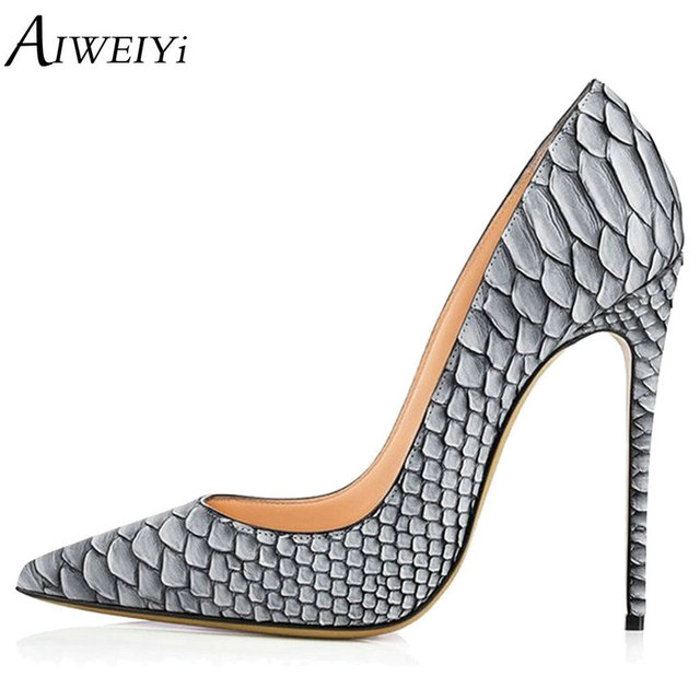 5682f873bc9 AIWEIYi Brand Women Shoes High Heels Platform Pumps Stiletto Heels Sexy Classic  Pumps Ladies Wedding Shoes Party Pump Shoes