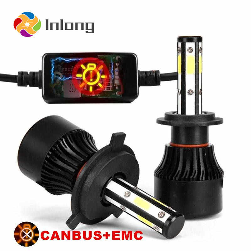 Inlong 6000K 18000LM 90W H4 Car LED Headlight No Error H7 Led Canbus Headlmp Bulbs H11 H8 9005 9006 Auto Headlamp Fog Lights 12V