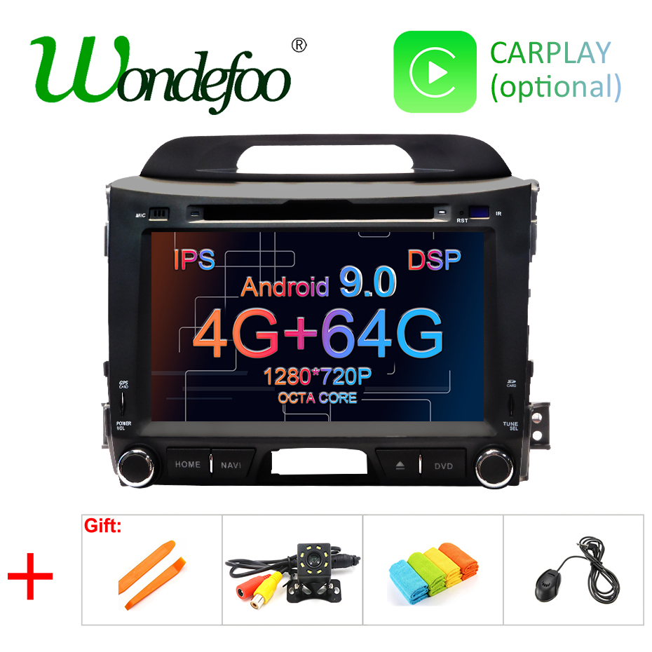 DSP IPS AV Output 4G 64G Android 9 0 CAR DVD PLAYER For KIA sportage GPS