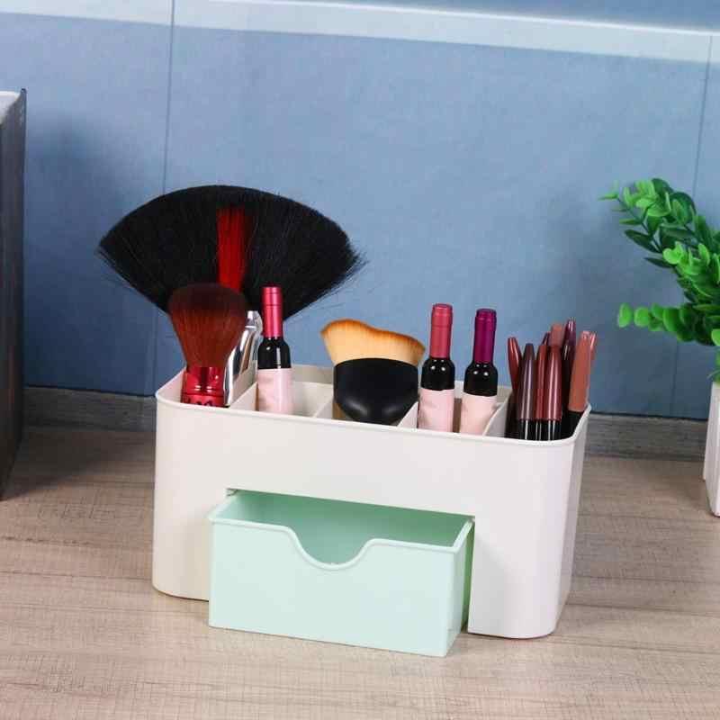 Thuisgebruik 6 Grid Make Organizer Opbergdoos met Lade Borstel Houder Sieraden Organisator Make Holder Cosmetische Storage Case