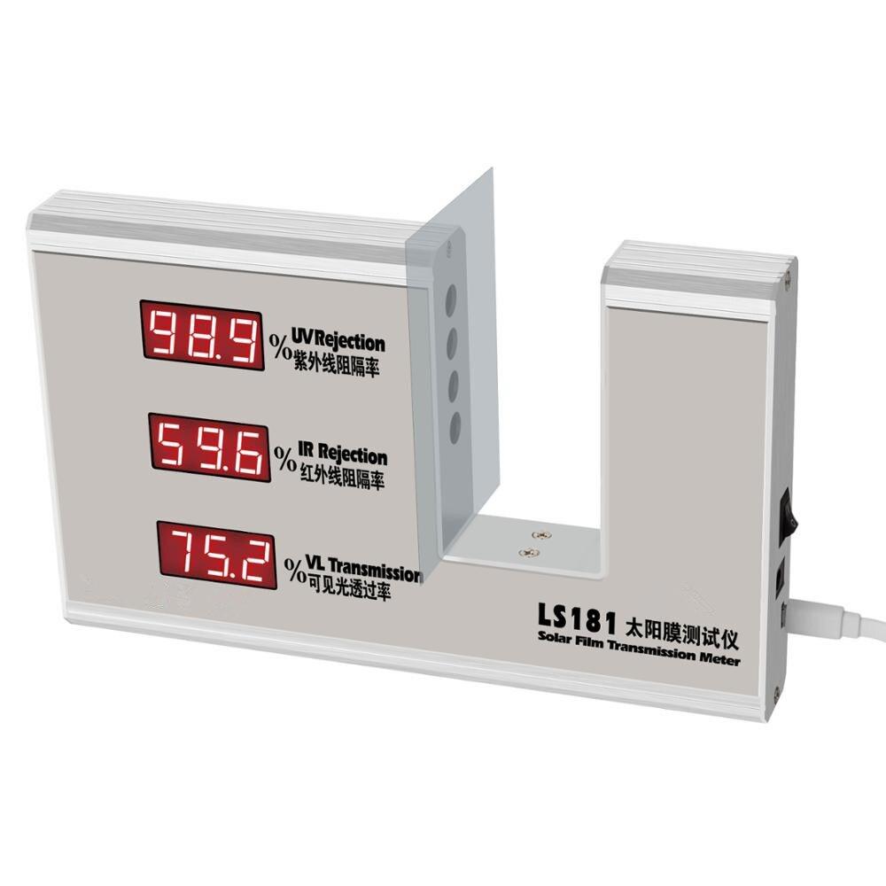 New Professionale Finestra Transmission Meter Test Solar Pellicola Vetro Della Finestra Rifiuto UV 365nm UV IR IR 950nm VL Transmission Meter
