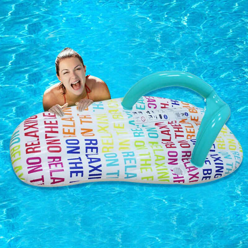 Надувной гамак; плавающие тапочки для кровати; шезлонг для бассейна; пляжные тапочки; PAK55