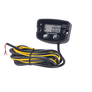 Digital Resettable Waterproof Hour Meter Gasoline Engine Tachometer RL-HM020RV for Marine Outboard Paramotor Snowmobile Tractor(China)
