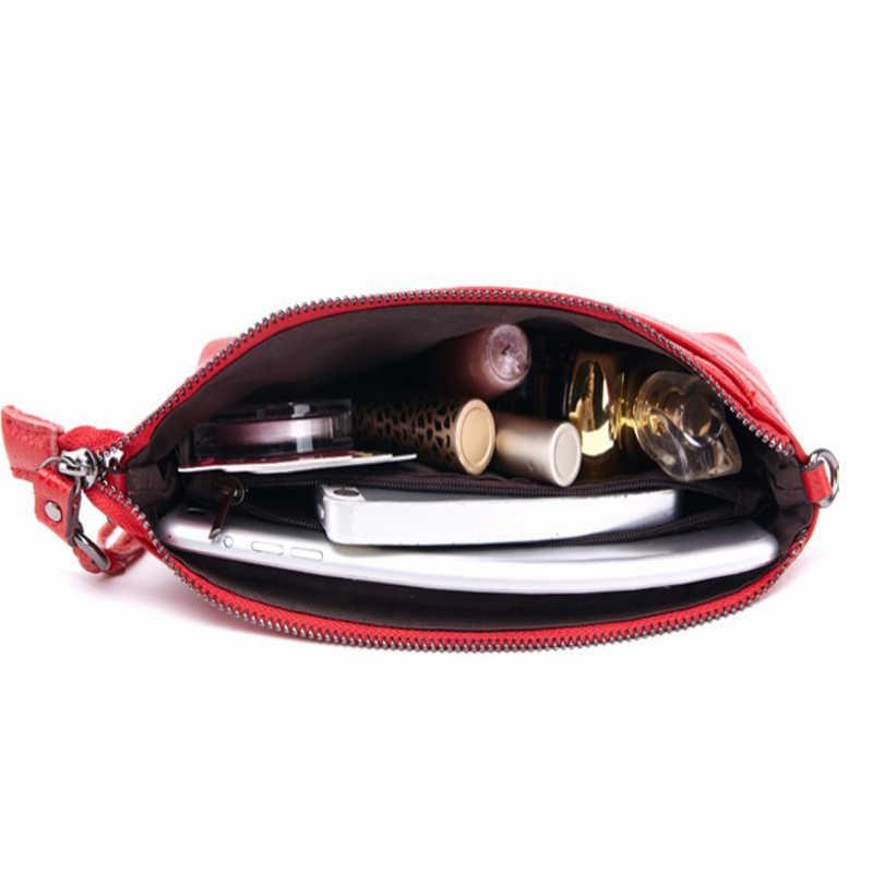 HMILY Neue Vollrindleder Frauen Umhängetasche Reine Farbe damen Umhängetaschen Neun Candy Farbe Frauen Mini Tasche Kupplung tasche