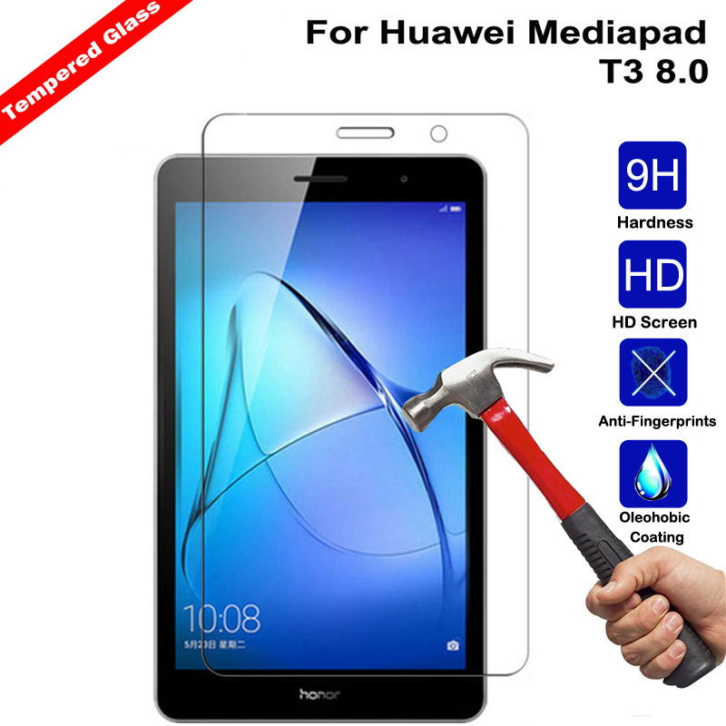Tempered Glass Screen Case For Huawei Mediapad T3 8 8.0 Screen Protective Film Tablet Screen Protector For Mediapad T3 8.0 Glass
