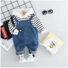 2019 Autumn Toddler Infant Clothing Suits Baby Girls Boys Clothes Sets Hooded T Shirt Bib Pants Kids Children Christmas Outfit цена