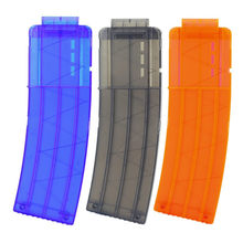 15pcs Reload Clip Magazines Dart Replacement Plastic Cartridge Bullet Clip For Soft Bullet Toy Gun(China)
