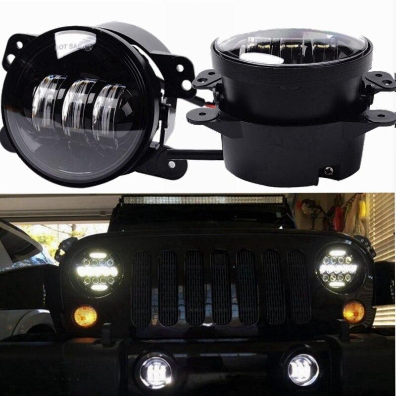NEW Hot Sale Pair LED Fog Light Kit 30W 1440LM DC 12V 4 inch LED Work Light Driving LED Lamp for 2007~2014 Wrangler JK