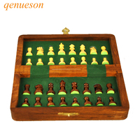 New Hot Folding Chess Wooden Chess Game Children Gifts Crafts Multifunctional Chess Set Pieces Interesting Backgammon