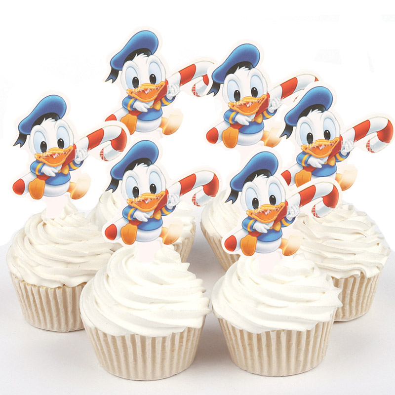 Magnificent 50Pcs Baby Donald Duck Princess Sophia Winnie The Pooh Paper Personalised Birthday Cards Veneteletsinfo