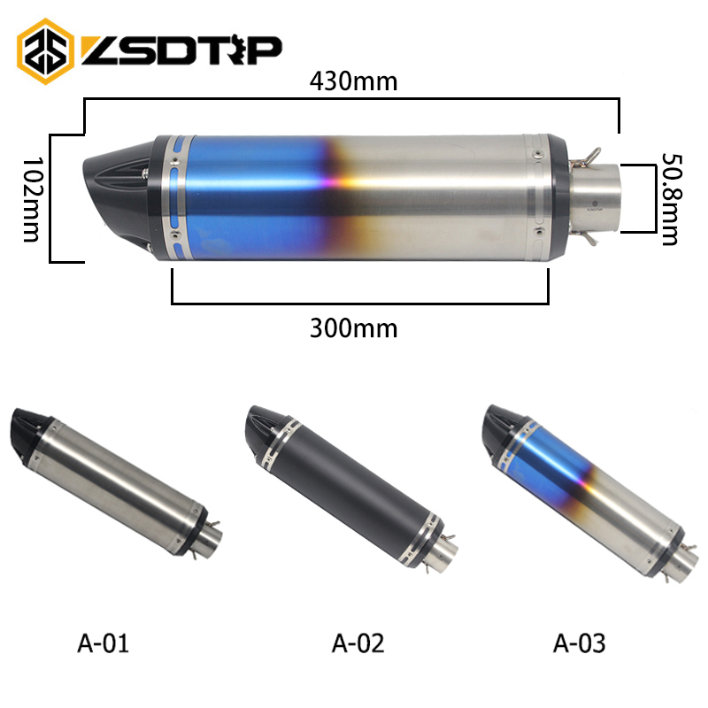 ZSDTRP 51 mm Universal Motorcycle dirt bike exhaust escape Modified Scooter akrapovic Exhaust Muffle Fit GSX1300/1000R CB400ZSDTRP 51 mm Universal Motorcycle dirt bike exhaust escape Modified Scooter akrapovic Exhaust Muffle Fit GSX1300/1000R CB400