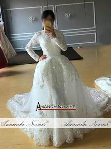 Image 5 - Amazing New Model Long Sleeve Muslim Wedding Dresses NS3374