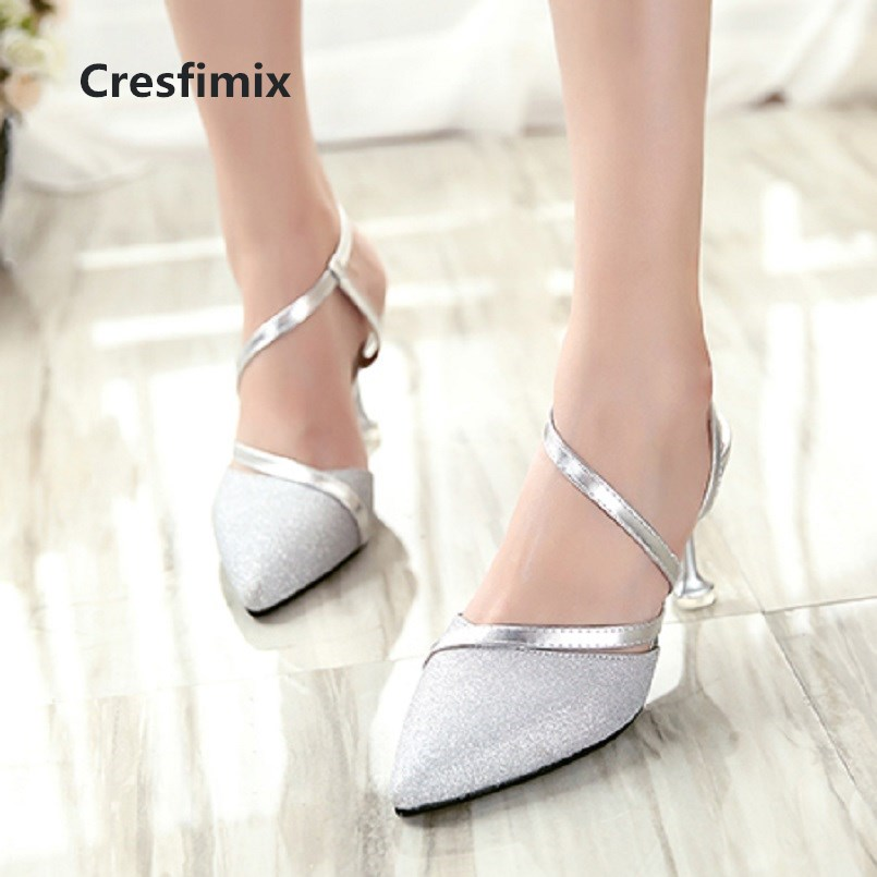 Cresfimix femmes hauts talons women fashion cute spring & summer thin heel shoes lady casual silver sweet high heel shoes a2911Cresfimix femmes hauts talons women fashion cute spring & summer thin heel shoes lady casual silver sweet high heel shoes a2911