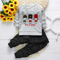 2016 Autumn New Arrival cotton unisex baby clothing sets children boys cute suits babies tops+pants 2pcs set infant girl clothes