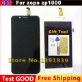 New zp1000 touch Screen + LCD Display Digitizer Glass For zopo zp1000 LCD Display + TP +Tool +Waterproof packaging