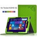 Para Teclast X10HD 3G Funda Protectora Del Soporte de LA PU Funda de Cuero cubierta para 10.1 pulgadas Teclast X10 HD 3G Arranque Dual de la Tableta PC + Pluma