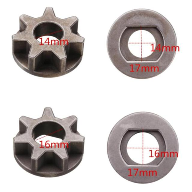 1x M14/M16 Chainsaw Gear For 115 125 150 180 Angle Grinder Chain Saw Chainsaw Parts Bracket Replacement Power Tool Accessories