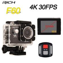 RICH Action Camera 4K 2.0″LCD Screen 170 Degree 1080P F60 Wifi underwater camera sport Digital helmet cameras action cam