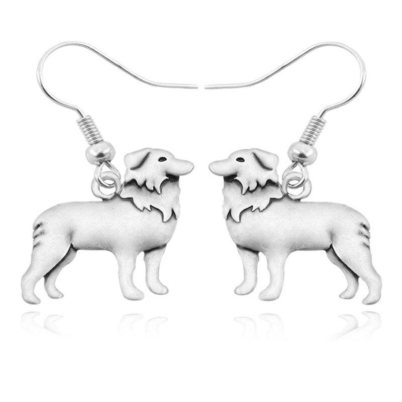 Vintage Boho Border Collie Drop Earring Bohemian Dog Charms Earrings For Women Brincos Long Earings Fashion Jewelry Pendientes