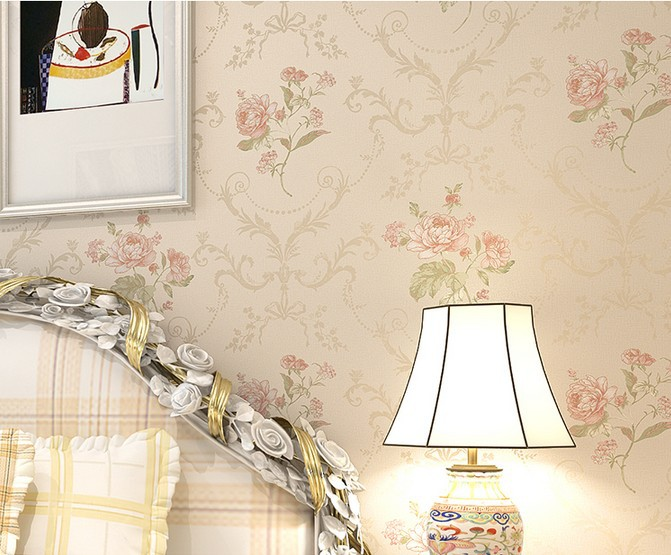 Red Peony Floral Wallpaper roll 10m for Bedding room DZK26 19 peony