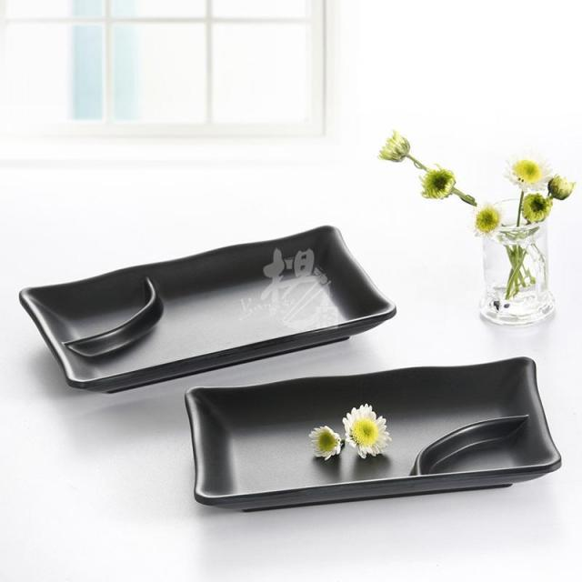 BUFFET fast food plastic melamine sushi chafing plate dinner dish set with sauce compartment restaurant tableware  sc 1 st  AliExpress.com : buffet tableware - pezcame.com